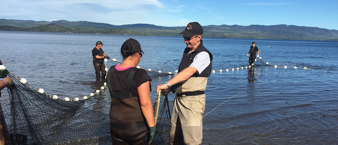 Greg Taylor with Watershed Watch's Salmon Society on the Pacific Coast cast nets to investigate why the slamon are slow to return