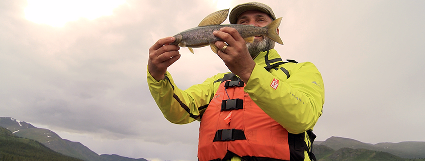 Lawrence with Arctic Grayling