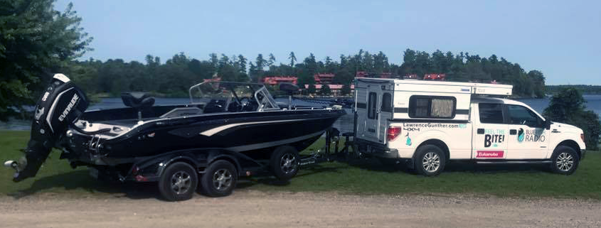 Lawrence's Ford 150, Four Wheel Truck Camper and Ranger Fisherman