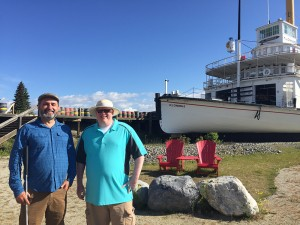 Lawrence and Dave Brown at the SS Klondike