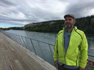 Lawrence beside Yukon River Whitehorse